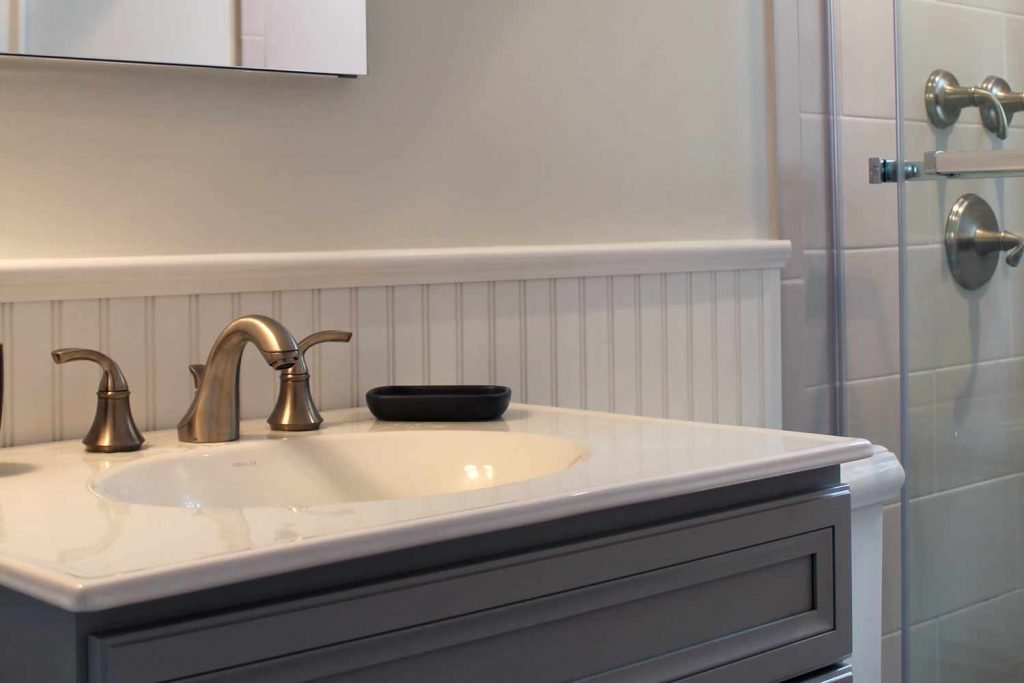 Small Bath with Flair - Bathroom Renovation - by Anne Hickok Hanley