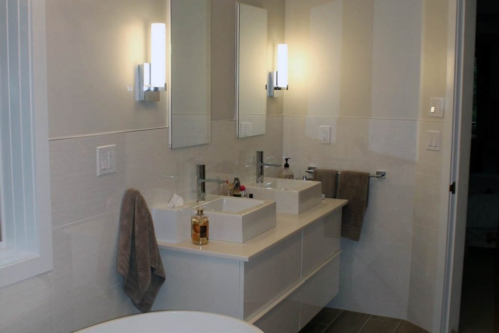 Small Zen Bathroom - Bathroom Renovation - by Anne Hickok Hanley