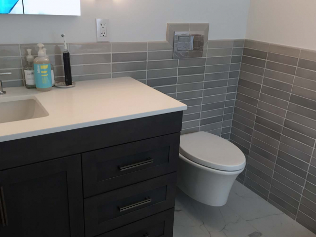 House in the Trees - Bathroom Renovation - by Anne Hickok Hanley