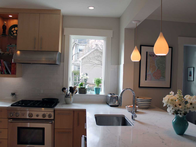 Light Filled Kitchen by Anne Hanley Hickok