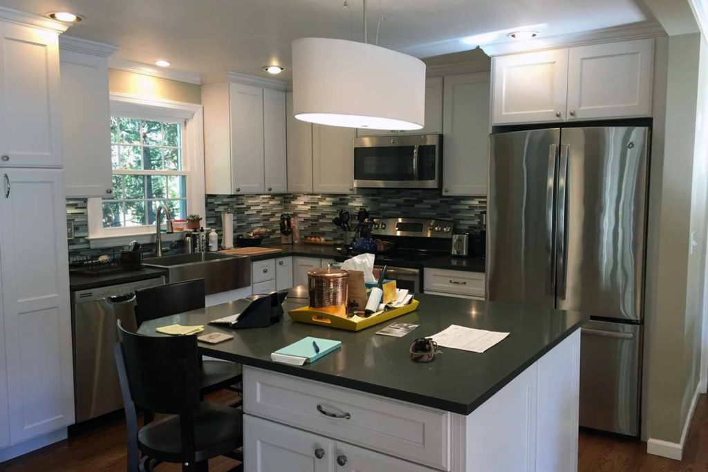 Small in Town Living - Kitchen Renovation, Bathroom Renovation, Laundry Room Renovation - by Anne Hickok Hanley