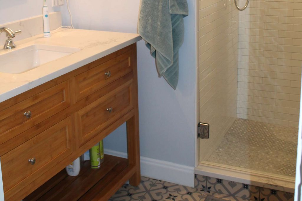 Small and Smart Master Bath - Bathroom Renovation - by Anne Hickok Hanley