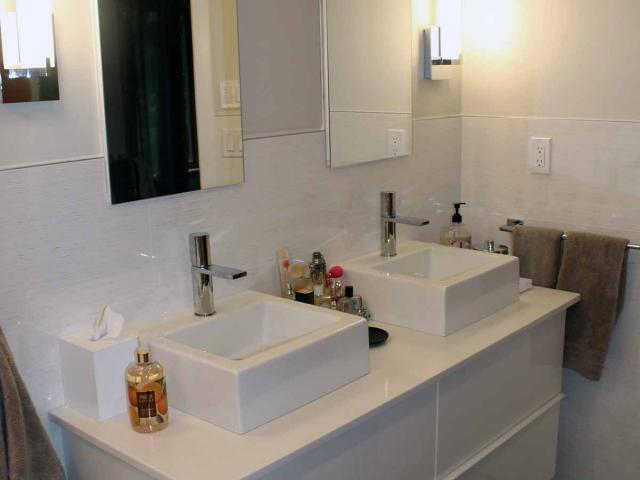 Small Zen Bathroom by Anne Hickok Hanley